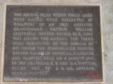 Plaque under oldest Gallipoli Oak at Geelong Grammar.