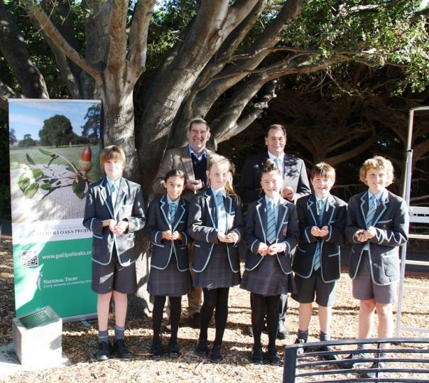 Simon Ramsay MLC with Mr James Affleck and Geelong Grammar students